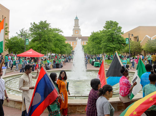 UNT Flag Parade
